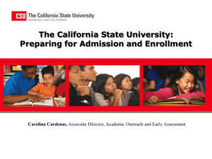 Early Start - The California State University