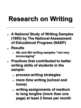 Research on Writing