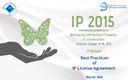 Presentation - Conference on Managing Intellectual