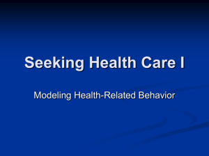 Seeking Health Care I - People Server at UNCW