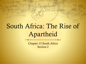 South Africa: The Rise of Apartheid - South-Africa-Under