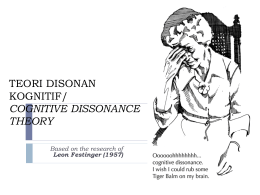 TEORI DISONAN KOGNITIF/ COGNITIVE DISSONANCE THEORY