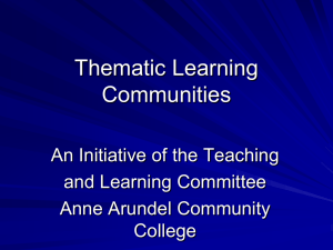TLC Forum Presentation - Anne Arundel Community College