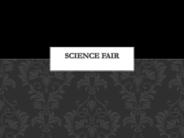Science Fair Overview