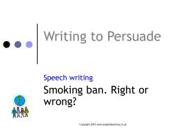 persuasive techniques matching exercise persuasive writing speeches smoking ban