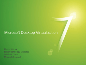 Deploy Application and User State Virtualization NOW