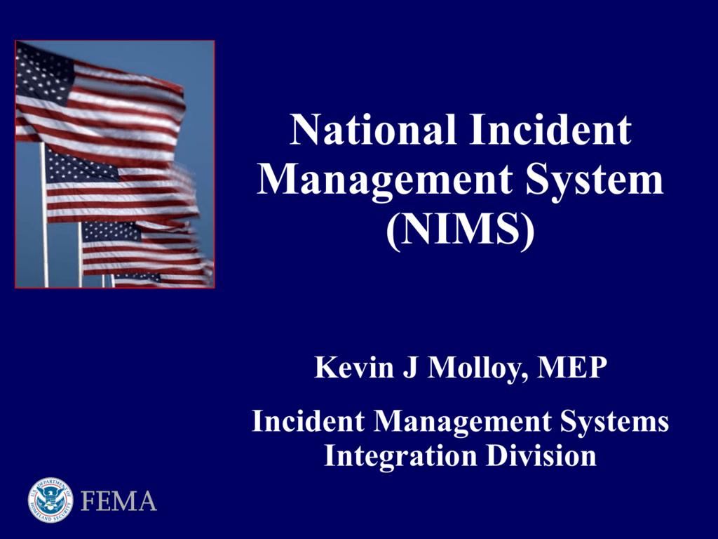National Response Framework And Intelligence And