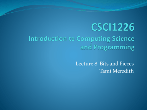 Slide 1 - Mathematics & Computing Science
