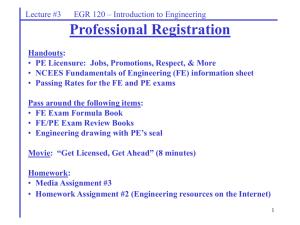 FE & PE Exam - ASME