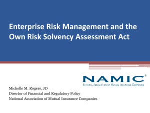 Enterprise Risk Managment - PA Association of Mutual Insurance