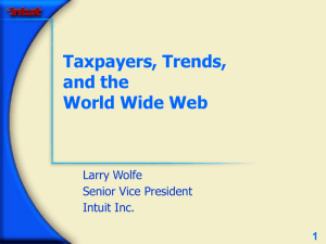 Taxpayers, Trends and the Worldwide Web