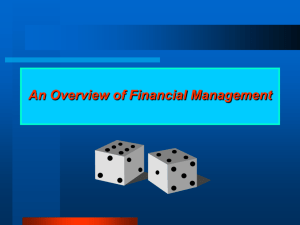 BBA - 01 Overview of Financial management
