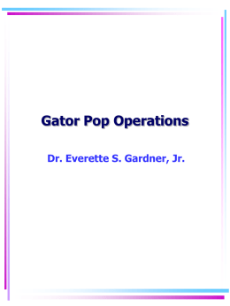 GATOR POP OPERATIONS