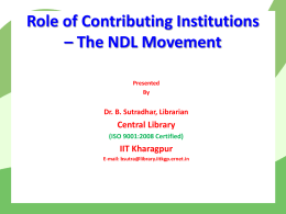 NDL-Workshp-BS - Central Library, IIT Kharagpur