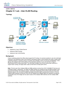 Lab 5-1 Inter-VLAN Routing