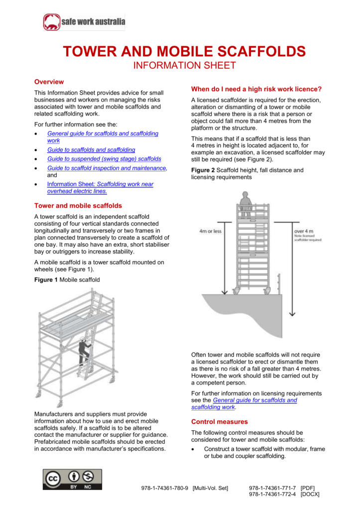 6  Tower and mobile scaffolds information sheet