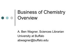 Business of Chemistry Overview