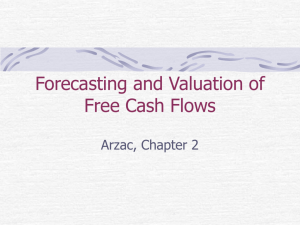 Forecasting and Valuation of Free Cash Flows