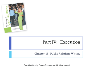 Chapter 15: Public Relations Writing
