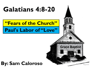 Galations 4:8-20 - Friends in Faith