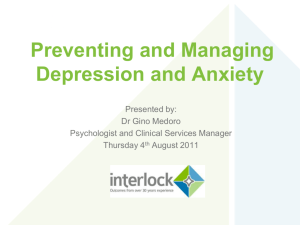 Managing Depression and Anxiety