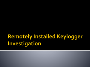Remotely Installed Keylogger Investigation