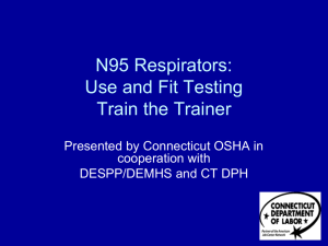 Use and Fit Testing Train the Trainer