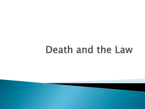 Death and the Law