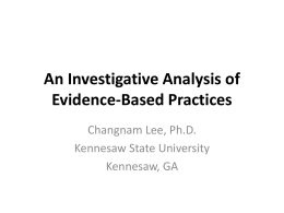 An Investigative Analysis of Evidence