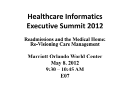 Healthcare Informatics Executive Summit 2012