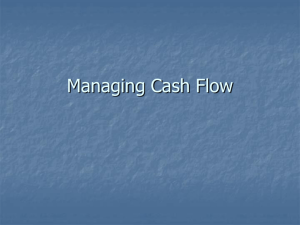 Managing Cash Flow - Seattle Central College