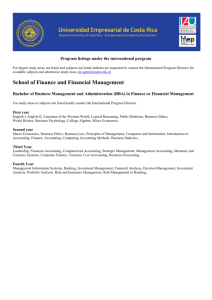 (BBA) in Finance or Financial Management