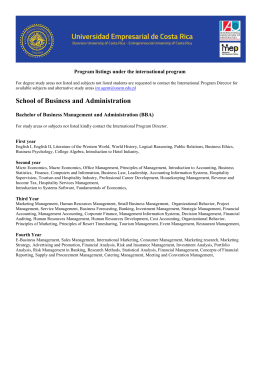Bachelor of Business Management and Administration (BBA)