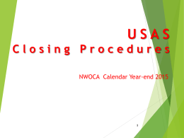 USAS Closing Procedures