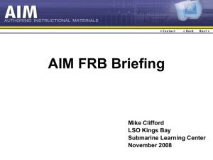 SLC AIM FRB Briefing
