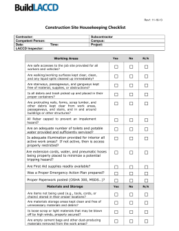 Residential inspection checklist for Scaffold inspection checklist free template