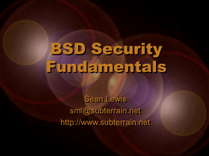 BSD Security Fundamentals