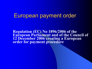 European payment order