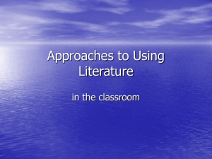 Approaches to using literature (PPP)
