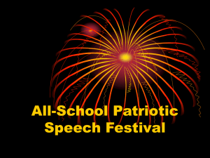 All School Patriotic Speech Festival (Handout)