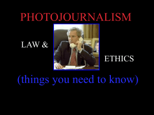 Photo Journal Ethics Law