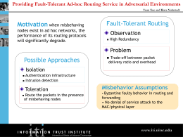 Misbehavior Assumptions