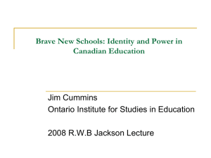Brave New Schools: Identity and Power in Canadian Education