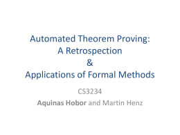 Automated Theorem Proving: A Retrospection & Applications of
