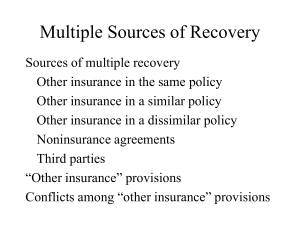 Multiple Sources of Recovery