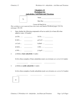 Worksheets Acid Rain Worksheet chemistry 12 worksheet 4 6 anhydrides acid rain and titrations 71 titrations