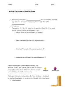 Solving Equations - Guided Practice #2-5