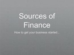 Sources of Finance - Business-TES