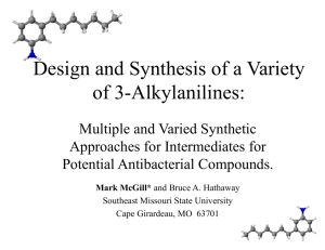 Design and Synthesis of a Variety of 3-Alkylanilines