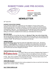 April 2015 Newsletter - Roberttown Lane Pre
